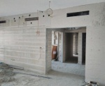 Lightweight concrete infill for drywall partitions